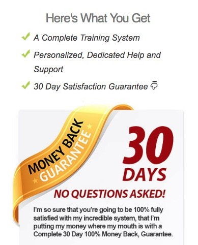 100K online secret 30-day money back guarantee