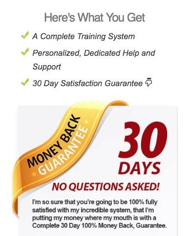 100K online secret 30-day money back guarantee