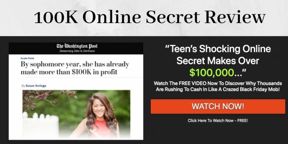 100K online secret graphic