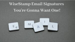 """WiseStamp Email Signatures - """"EMAIL"""" Spelled In Blocks"""