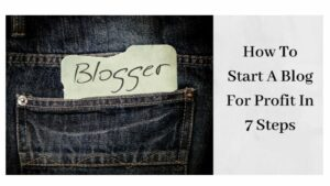 "How To Start A Blog For Profit - The Word ""Blogger"" In Pocket"