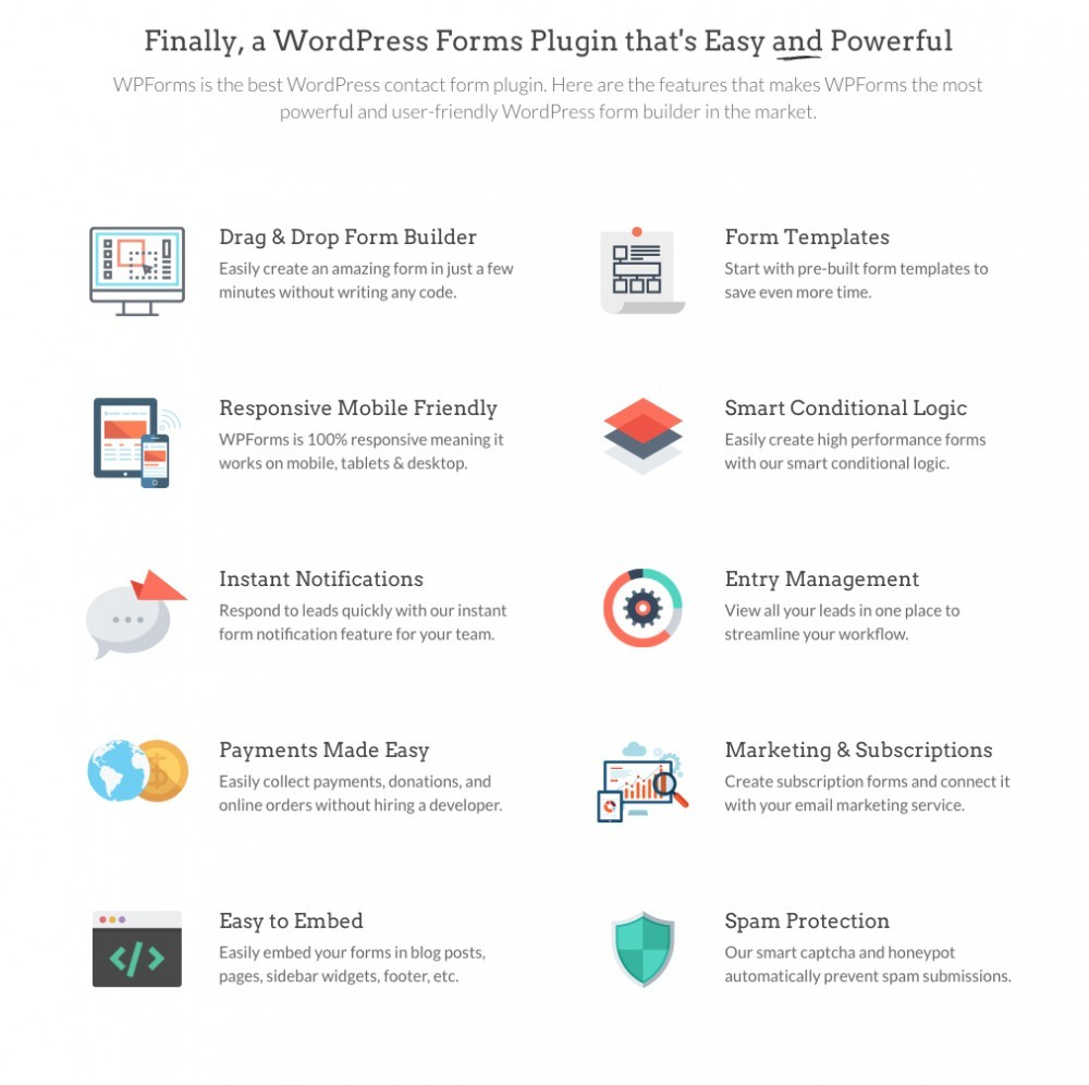 WPForms Plugin - Form Benefits