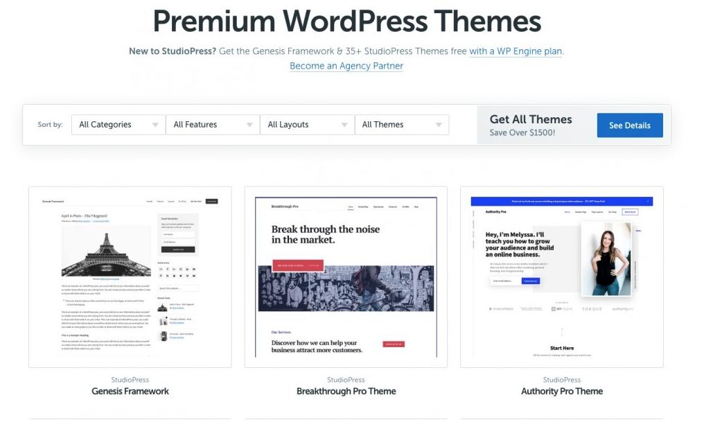 The Best Wordpress Themes By StudioPress