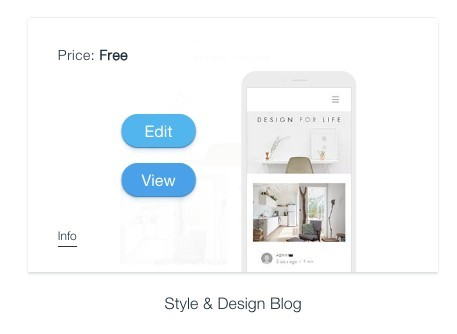 Wix Style an Design Blog template