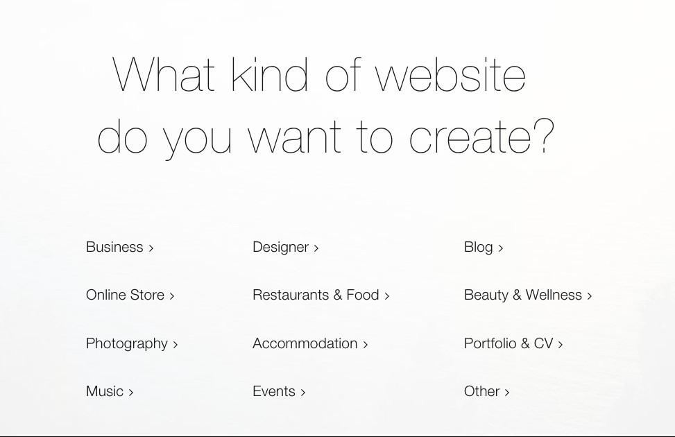 Wix website dashboard