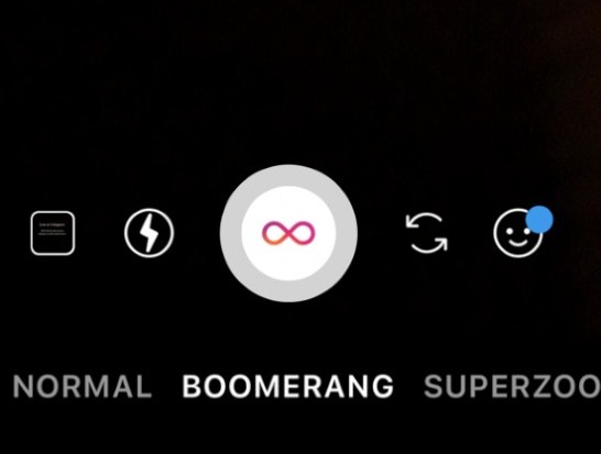 boomerang option instagram