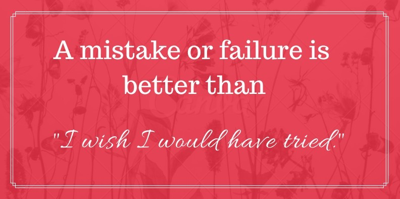 failure is better than regret quote