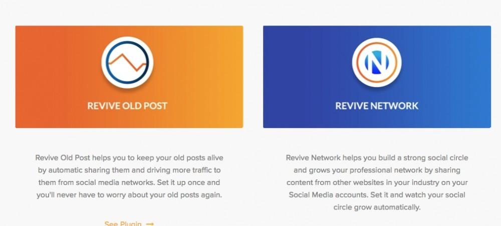 Revive Social plugins