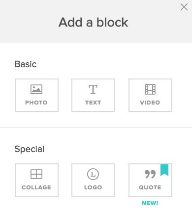 add a block in animoto video editor