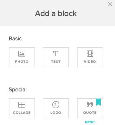 add a block in animoto video editor
