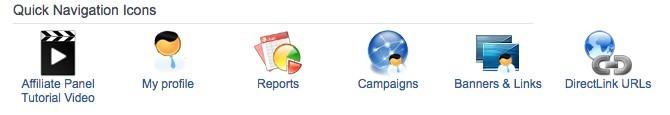 quick navigation icons promolife