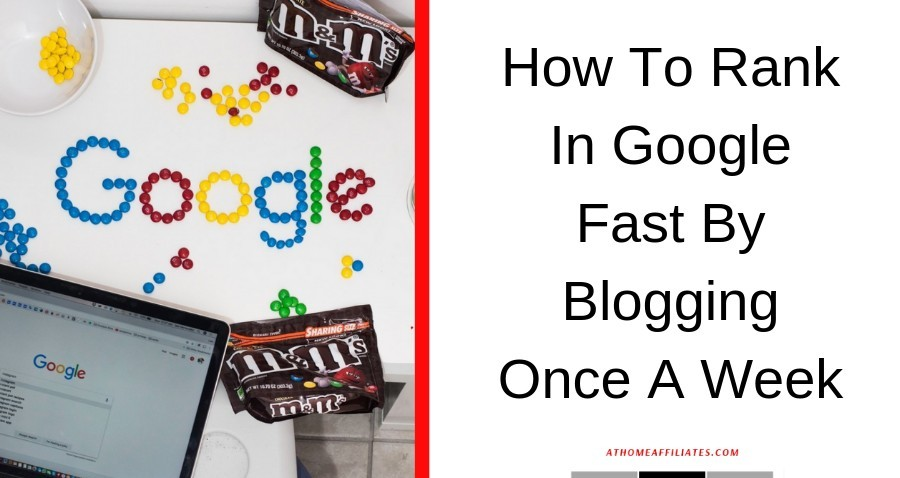 how to rank in google fast by blogging once a week graphic