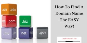 How To Find A Domain Name The EASY Way