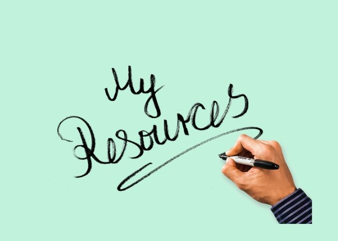 "hand writing ""my resources"""