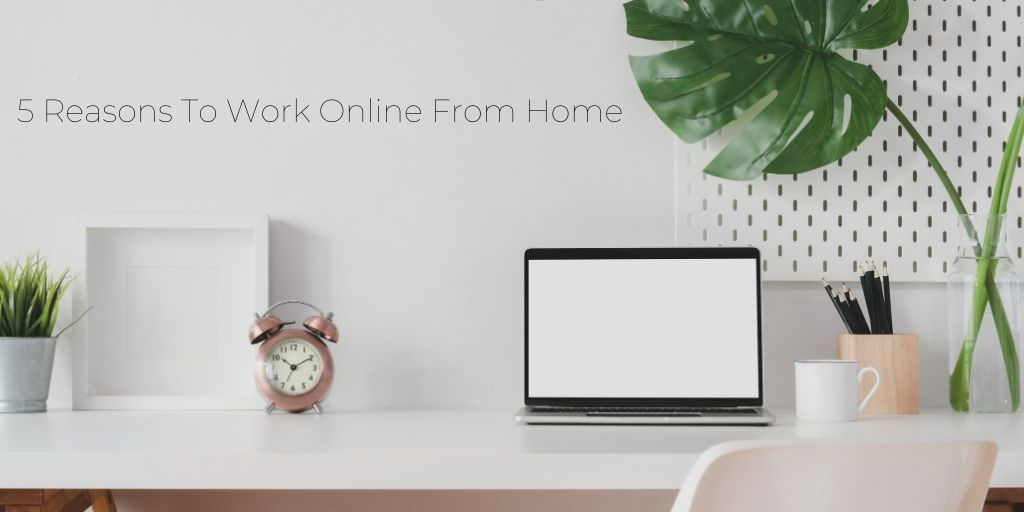 Work Online From Home - Graphic