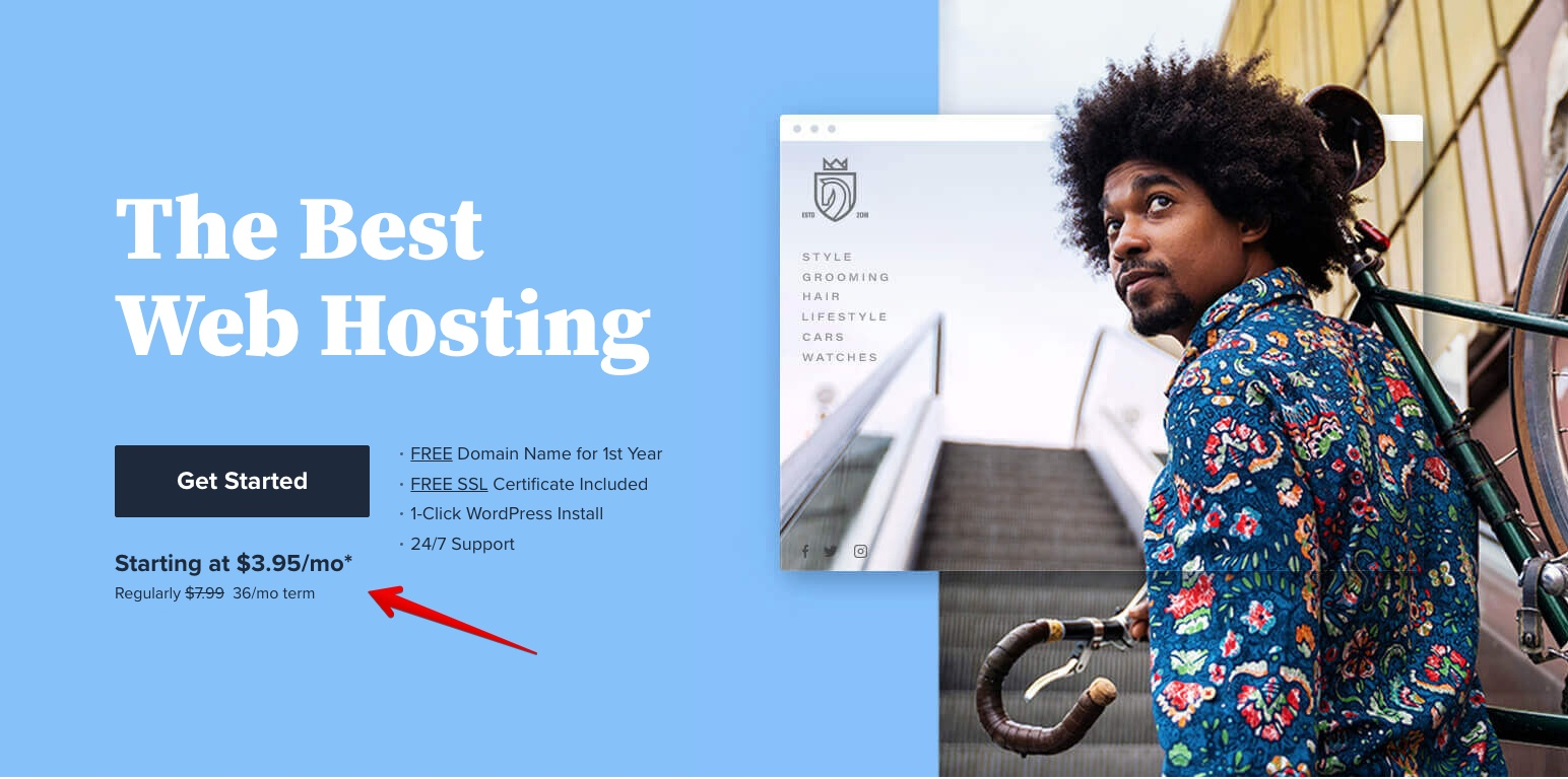 Bluehost's Pricing Plans & Review - The Best Web Hosting Banner