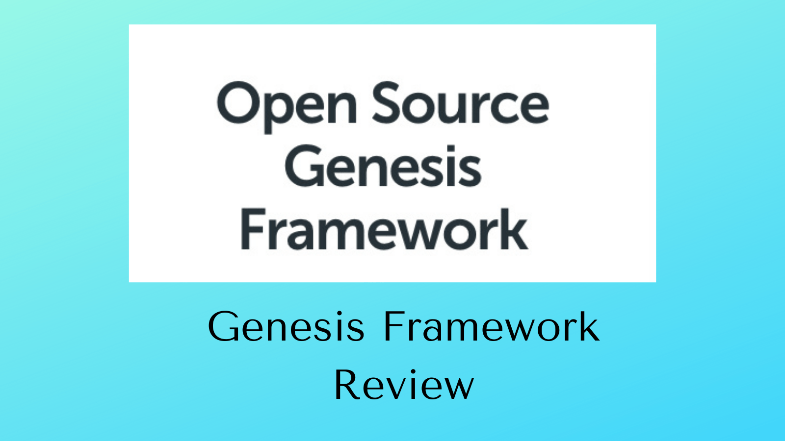 Genesis Framework Review - Homepage Screenshot