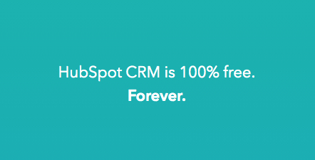 HubSpot's Marketing Software - CRM is 100% Free Graphic