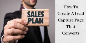 "man holding sign that says ""Sales Plan"""