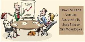 How To Hire A Virtual Assistant - Cartoons Around a Table