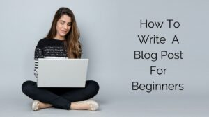 How To Write A Blog Post For Beginners - Lady on Laptop