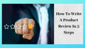 How To Write a Product Review - Finger on Star