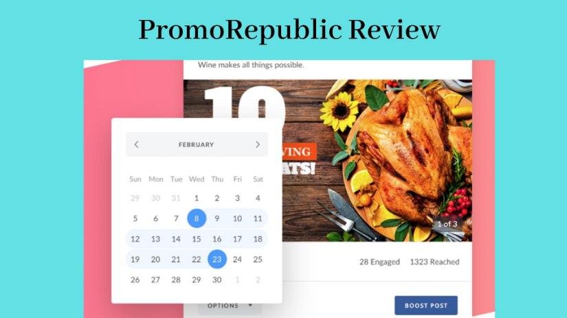 PromoRepublic Review - Screenshot of Template