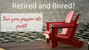 Retired and Bored - Two Adirondack Chairs By Lake