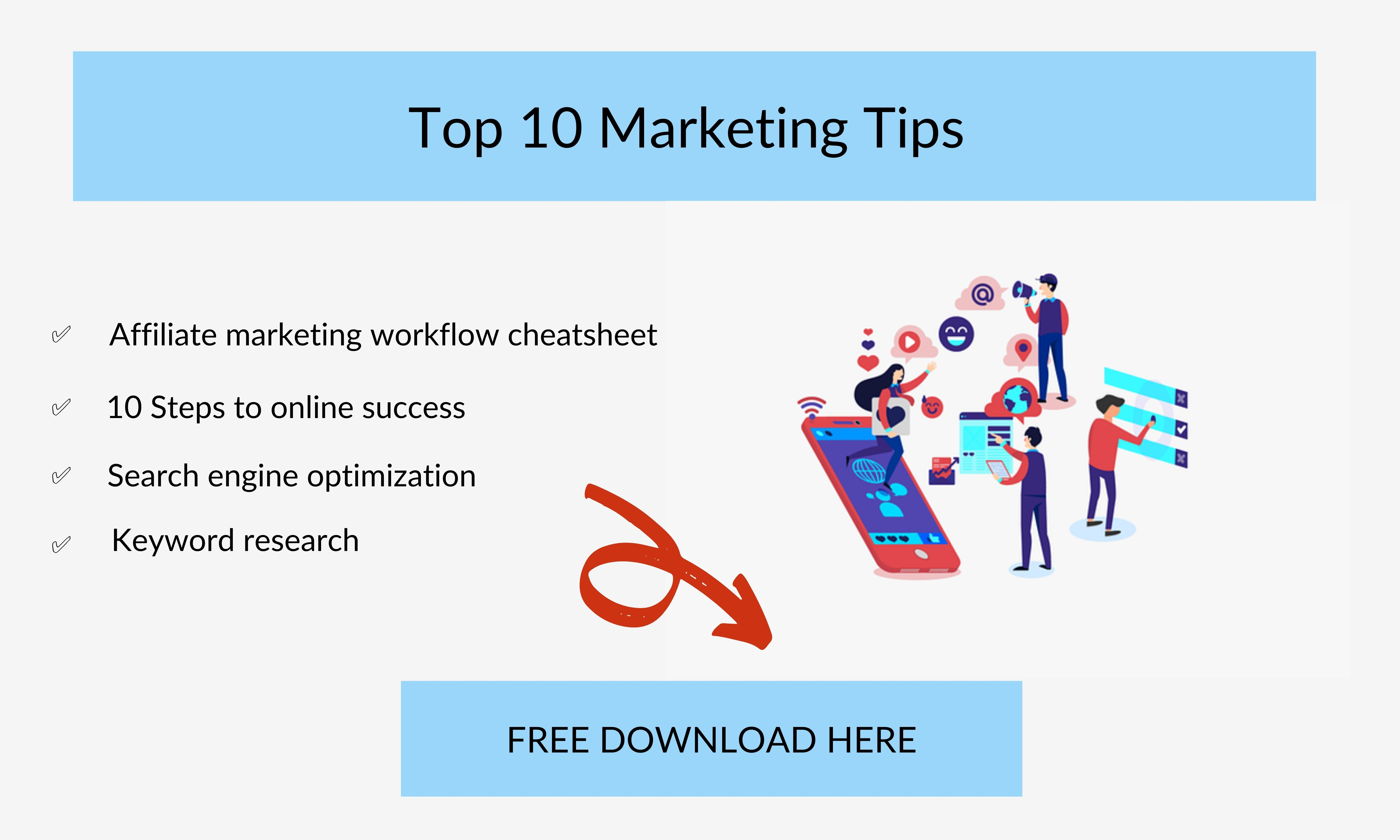 Create A Content Marketing Strategy - 10 Marketing Tips Banner
