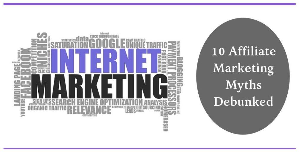 Affiliate Marketing Myths - Internet Marketing Graphic