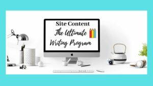 Site Content - Desktop Screen