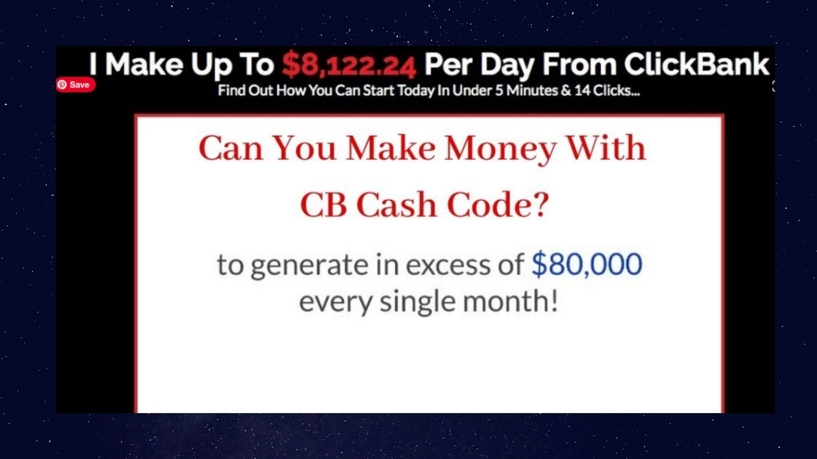 CB Cash Code Review - Homepage Graphic