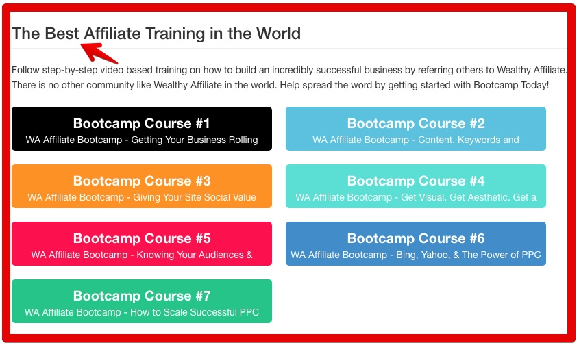 Is Wealthy Affiliate The Real Deal - Affiliate Bootcamp Graphic