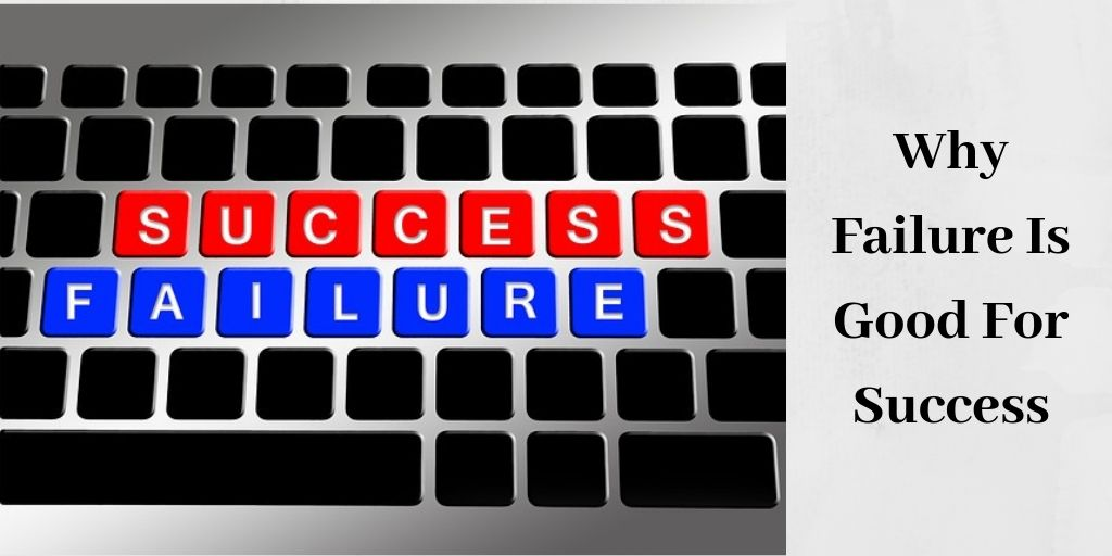 the words success and failure on keyboard
