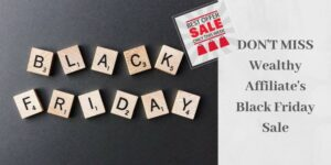 black friday spelled out in letters