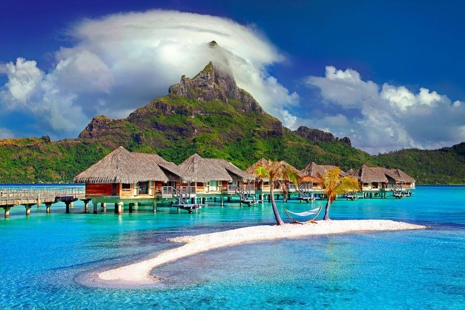 huts on ocean